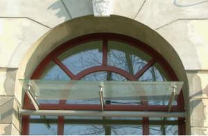 Daszek podwieszany szklany śląsk